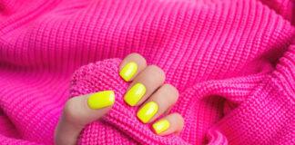 Modne neonowe paznokcie